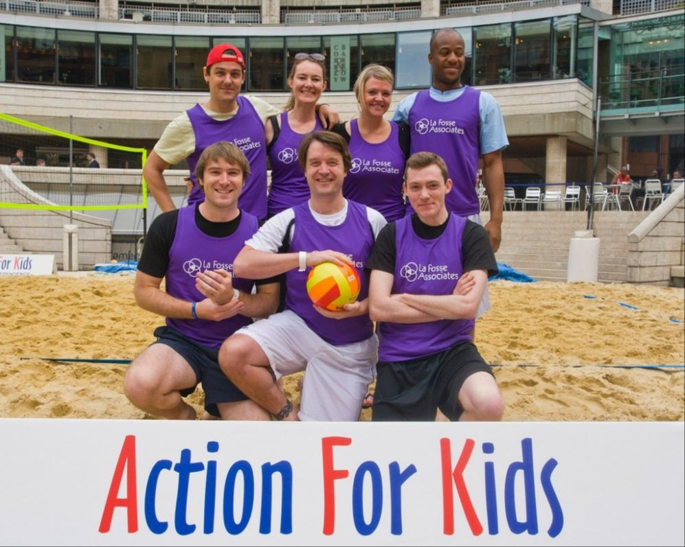 The La Fosse team at the Charity Beach Volleyball Tournament